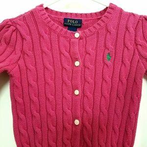 Polo Ralph Lauren Hot Pink Cardigan
